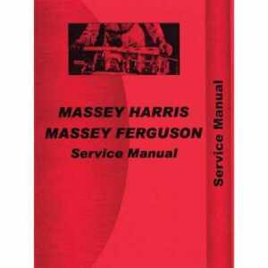 Service Manual Mh s mf35 50 International Massey Ferguson 50 Massey Harris