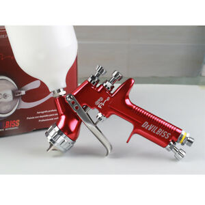 Devilbiss Gfg Pro Air Spray Gun For Paint Sprayer Gravity Feed With 600 Ml Cup