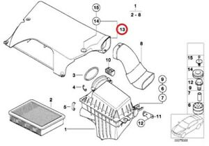 Genuine Bmw Air Duct Cover Radiator To Air Filter Housing Intake Oem 13711437100