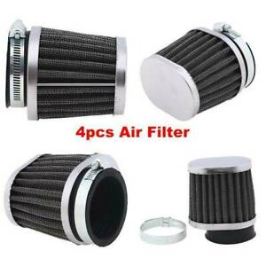 4pcs 2 50mm Inlet Air Filters Clamp On Replacement High Flow For Honda Suzuki