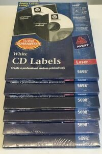 Lot Of 6 Avery Laser Cd Labels Matte White 100 pack 5698