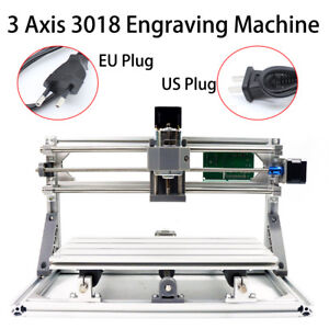 Diy Cnc Router Kit 3 Axis 3018 Mini Wood Carving Engraving Pcb Milling Machine