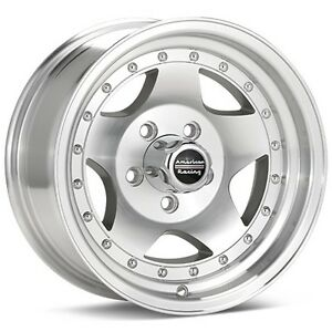 4 15 Inch Ar23 15x8 Machined Classic Chevy 5 Lug Rims 5x4 75
