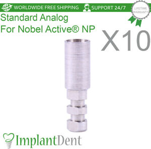 10 Implant Analog For Nobel Biocare Active Hex Np Dental Abutment