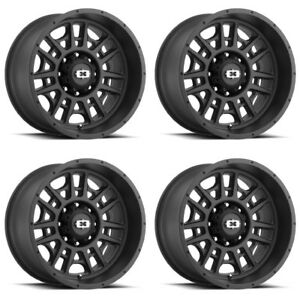 Set 4 20 Vision 418 Widow Black Wheels 20x9 5x5 5 12mm Dodge Ram 1500 Truck