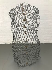 Antique Vintage Metal Wire Dress Form 125 00