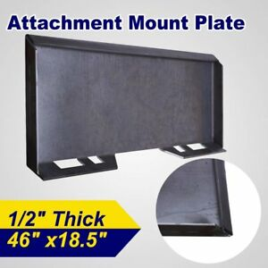 1 2 Quick Tach Attachment Mount Plate Skidsteer Loader Bobcat Kubota Skid Steer