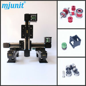 Mjunit 60 three axis Or x y z Stage With 500x500x100mm Stroke Linear Guide