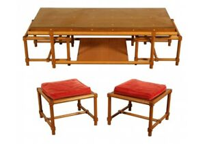 Tommi Parzinger Mid Century Modern Cocktail Table And Stools 60970