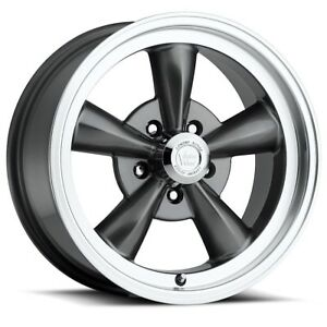 15 Inch 15x8 Wheels Gunmetal Machined 5 Lug 5x127 5x5 0 0mm Set Of 4 Rims