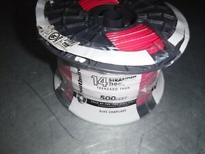 New 500 Southwire 22957558 Awg 14 Stranded Red Wire Thhn 600v 90c Usa