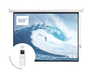 Homegear 100 4 3 Hd Electric Motorized Projector Screen Remote