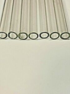 Set By 8 12x2x4 Long Pyrex Blowing Glass Tubes 12 Mm 2 Mm Thickness clear
