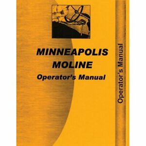 Operator s Manual M670 Super Minneapolis Moline M670 Super
