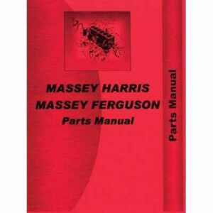Parts Manual 175 Compatible With Massey Ferguson 175 175