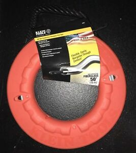 Brand New Klein Tools 50 Non conductive Fiberglass Fish Tape 56022