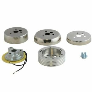 Polished 5 6 Hole Steering Wheel Hub Adapter Ford Mustang Galaxie 1965 1969