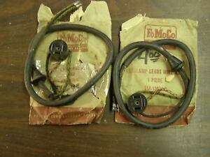 Nos Oem Ford 1946 1947 1948 Car Headlight Wiring Socket Pair Super Deluxe