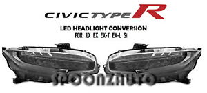 For 2018 Honda Civic Type R Style Led Headlamps Conversion For Lx Ex Si Jdm