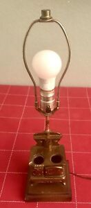 Vintage Brass Kitchen Wood Stove Electric Lamp