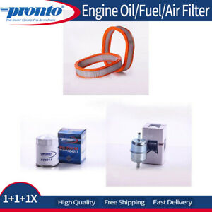3x Pronto Engine Oilfilter Fuel Air Filter Fits 1984 Buick Century V6 2 8l