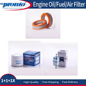 3x Pronto Engine Oilfilter Fuelfilter Air Filter Fits 1981 Mazda Rx 7 R2 1 1l