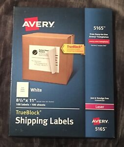 Avery Full sheet Labels With Trueblock Technology Laser 8 1 2 X 11 3 Boxes