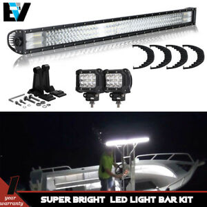 44inch Led Light Bar Combo Beam Front Upper Car Marine Boat 12v Fog Driving