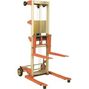 New Wesco Hand Winch Lift Truck 400 Lbs 120 Lift Straddle Legs