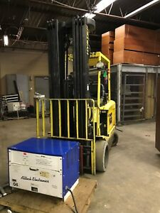 2004 Hyster Fork Lift Model E60z 33 6 000 Lbs Capacity 4 Stage 288 Lift