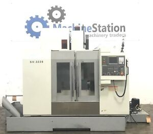 Sharp Sv 3220 Vertical Machining Center 8000 Rpm 4th Axis cnc Mill Vmc Haas Vf