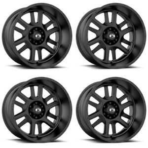 Set 4 20 Vision 419 Split Black Wheels 20x12 6x5 5 51mm Lifted Chevy Gmc 6 Lug