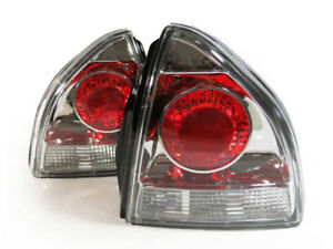 altezza Chrome Red Clear Lens Tail Lights Rear Lamp For 1992 1996 Honda Prelude