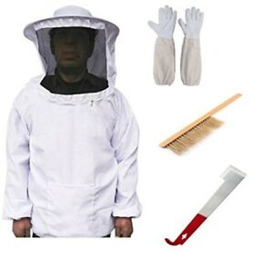 Supplies Starter Kit Bee Keeping Suit Jacket Gloves Protective Costume Tools