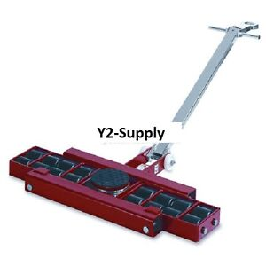 New Machinery Roller Dolly Swivel Plate Steer Handle 26400 Lb Cap