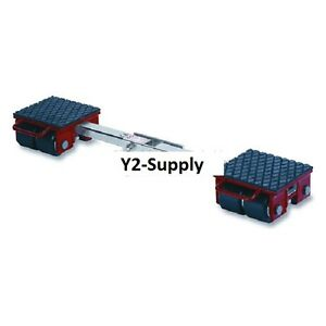 New Machinery Roller Dolly Rigid Plates adjustable Connector Bar 13200 Lb Cap