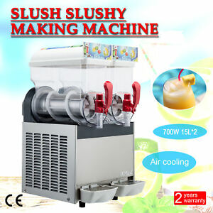 2 X 15l 700w Slushy Machine Slush Making Machine 30l Frozen Drink Machine