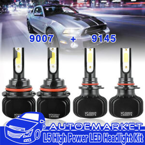 Hi lo Combo Kit 9007 9145 Led Beam Headlight Fog Light For Ford Ranger 2001 2011