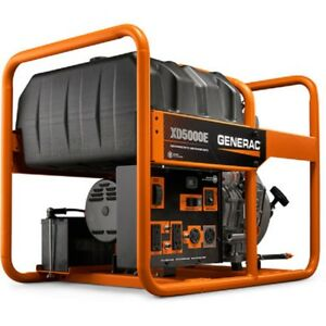 New Generac 5000 Watt Generator Diesel Engine Recoil electric Start