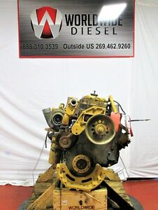 2000 Cat 3126 Diesel Engine Take Out 330 Hp Turns 360 Good For Rebuild Only