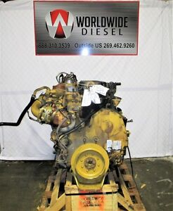 2008 Cat C13 Lee Diesel Engine Take Out 430hp Turns 360 Good For Rebuild Only
