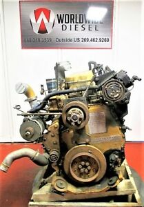 2002 Cat C12 Diesel Engine Take Out 400 Hp Turns 360 Good For Rebuild Only