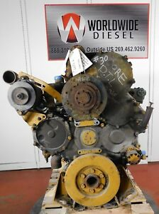 1999 Cat 3406e 2ws Diesel Engine Good For Rebuild Only Complete Turns 360