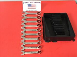 Snap On Tools Oxim Series 10 Pc 10mm 19mm 12 Point Stubby Metric Wrench Set 393