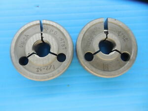 1 2 32 Un 2a Thread Ring Gages 5 Go No Go P d s 4787 4752 Inspection Tool