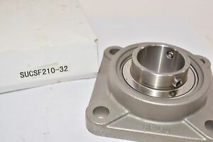 New Hbc 2 Stainless Steel 4 bolt Flange Bearing Sucsf210 32 Ssucf210 32