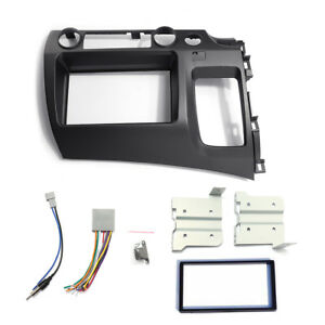 For 06 11 Honda Civic Taupe Radio Stereo Double 2 Din Dash Kit W Wiring Harness