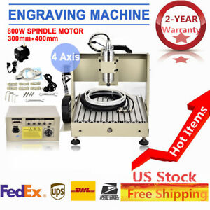 Vfd 4 Axis 800w Engraver Cnc Router Milling Engraving Carving Machine Mach3 Hot