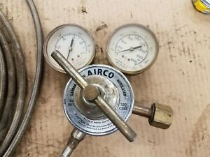 Airco Co2 Regulator Valve W Gauges 806 9675 Inlet 3k Psi 320 Cga Made In Usa