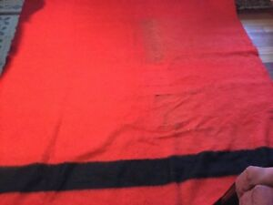 Vintage Early S Witney 4 Point Blanket Red And Black Made In England Hbc
